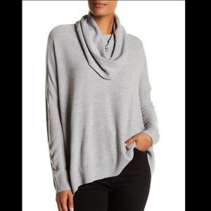 Joie loose cowl gray sweater size S